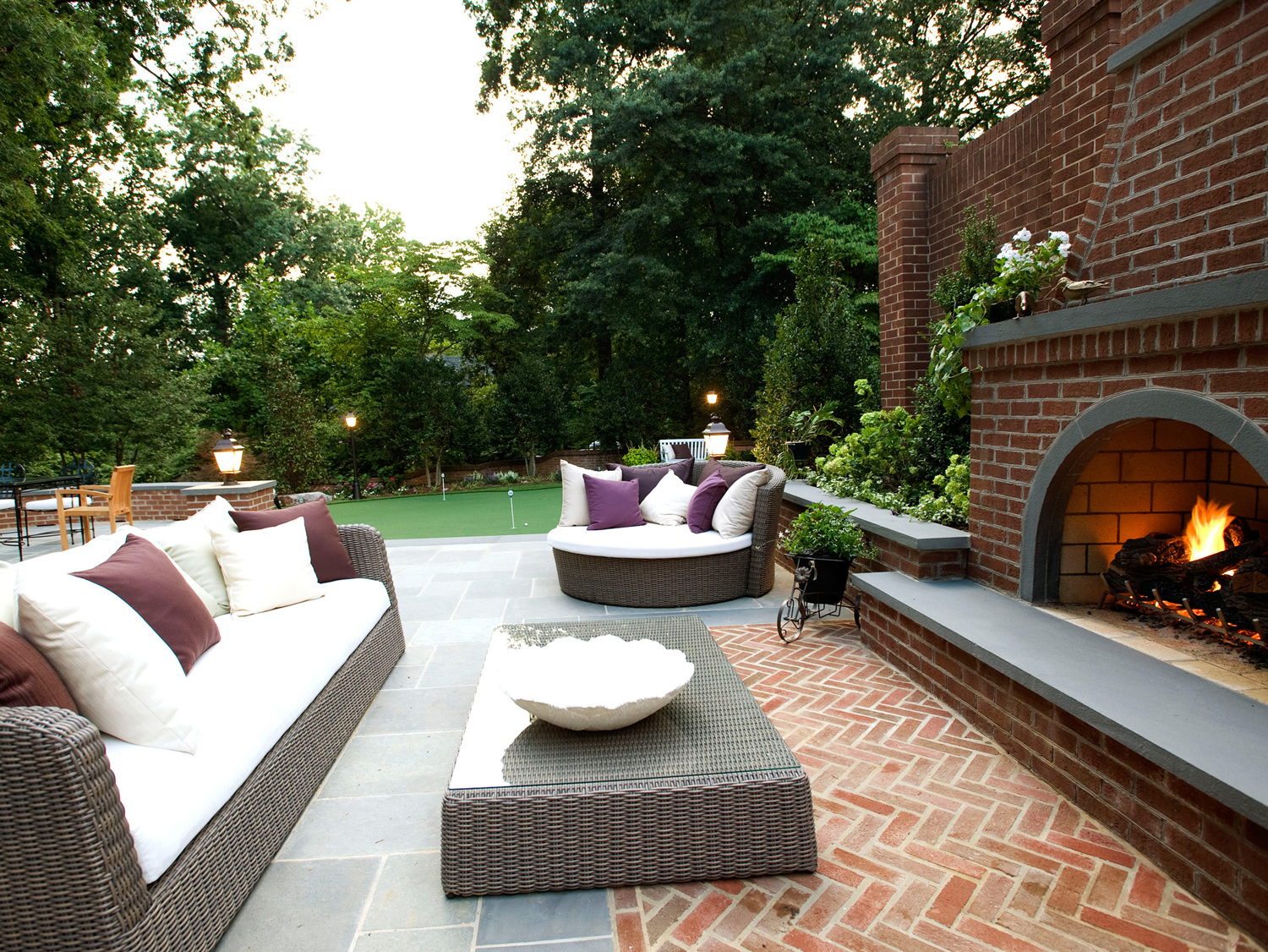 McLean Residence Patio & Fireplace