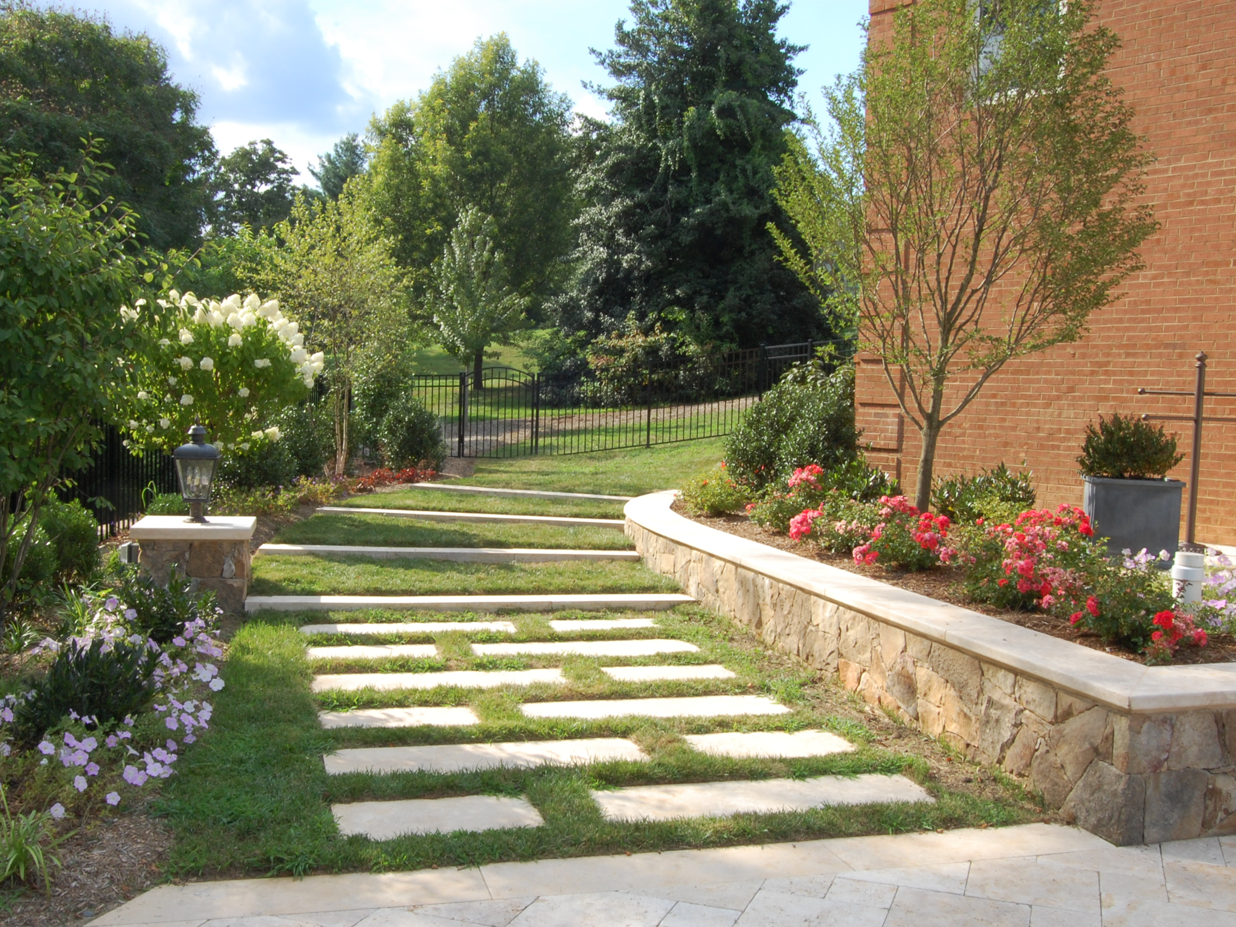 Oakton Residence Lawn Steps and Planter Wall