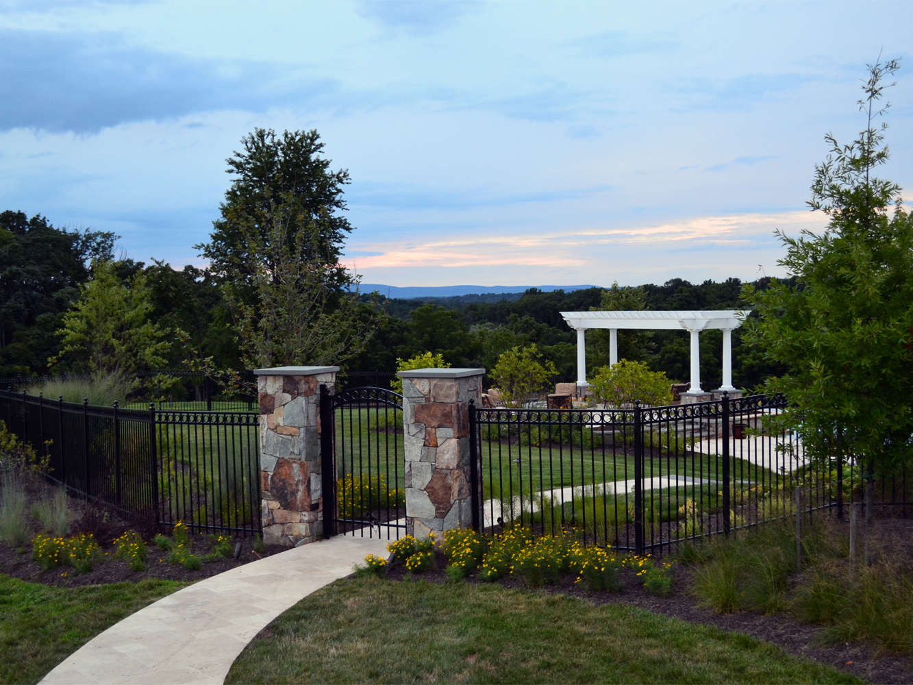 Aldie Residence Pool Entry Piers & Gate