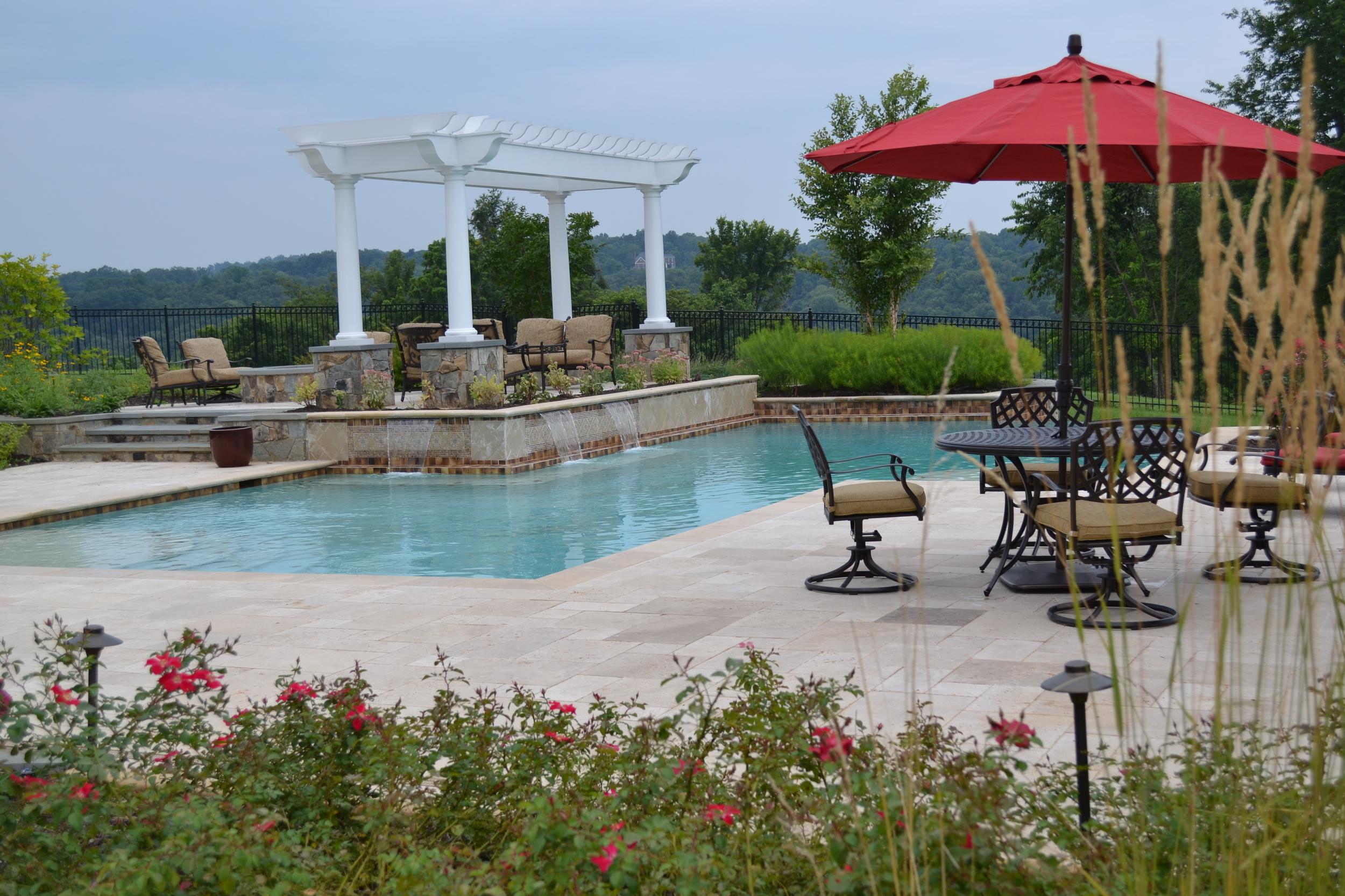 Aldie Residence Pool & Plantings