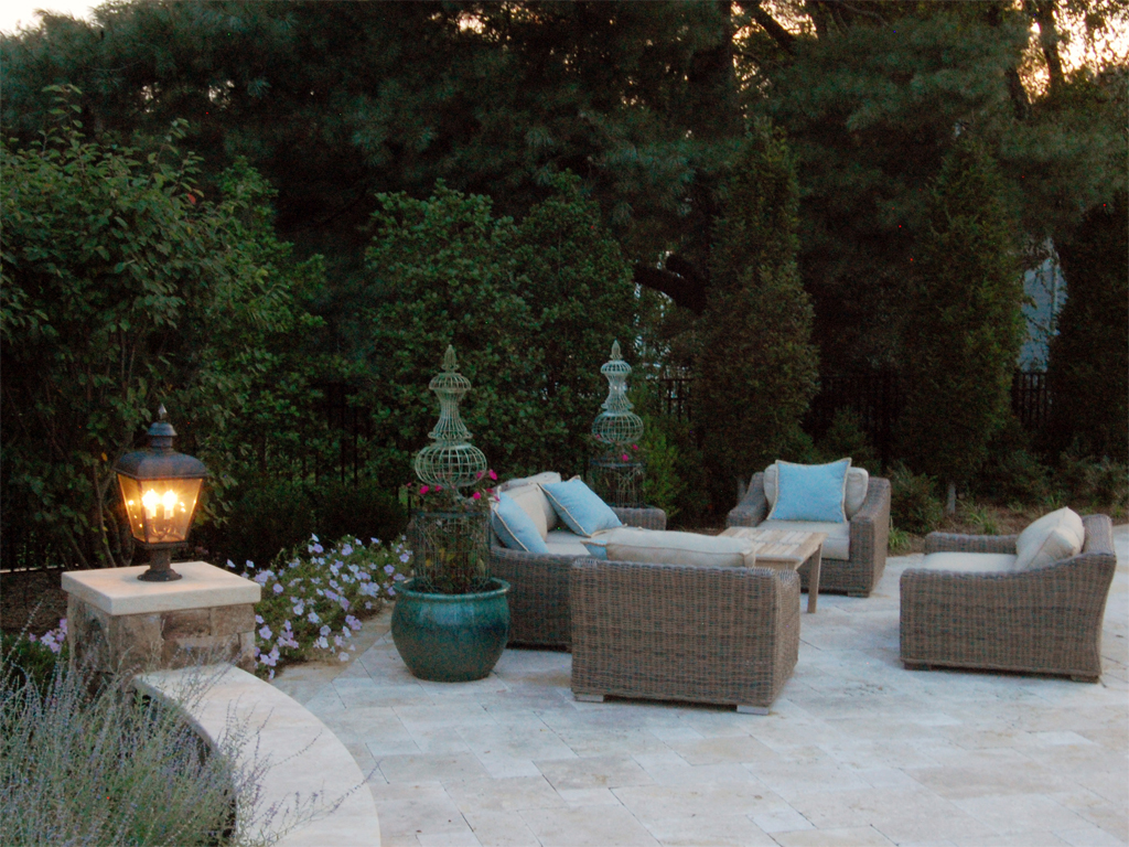Oakton Residence Seating Area & Plantings