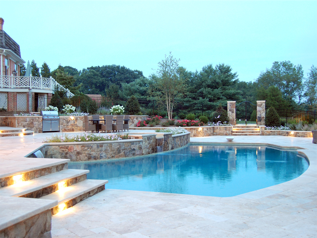 Finished pool and outdoor living area