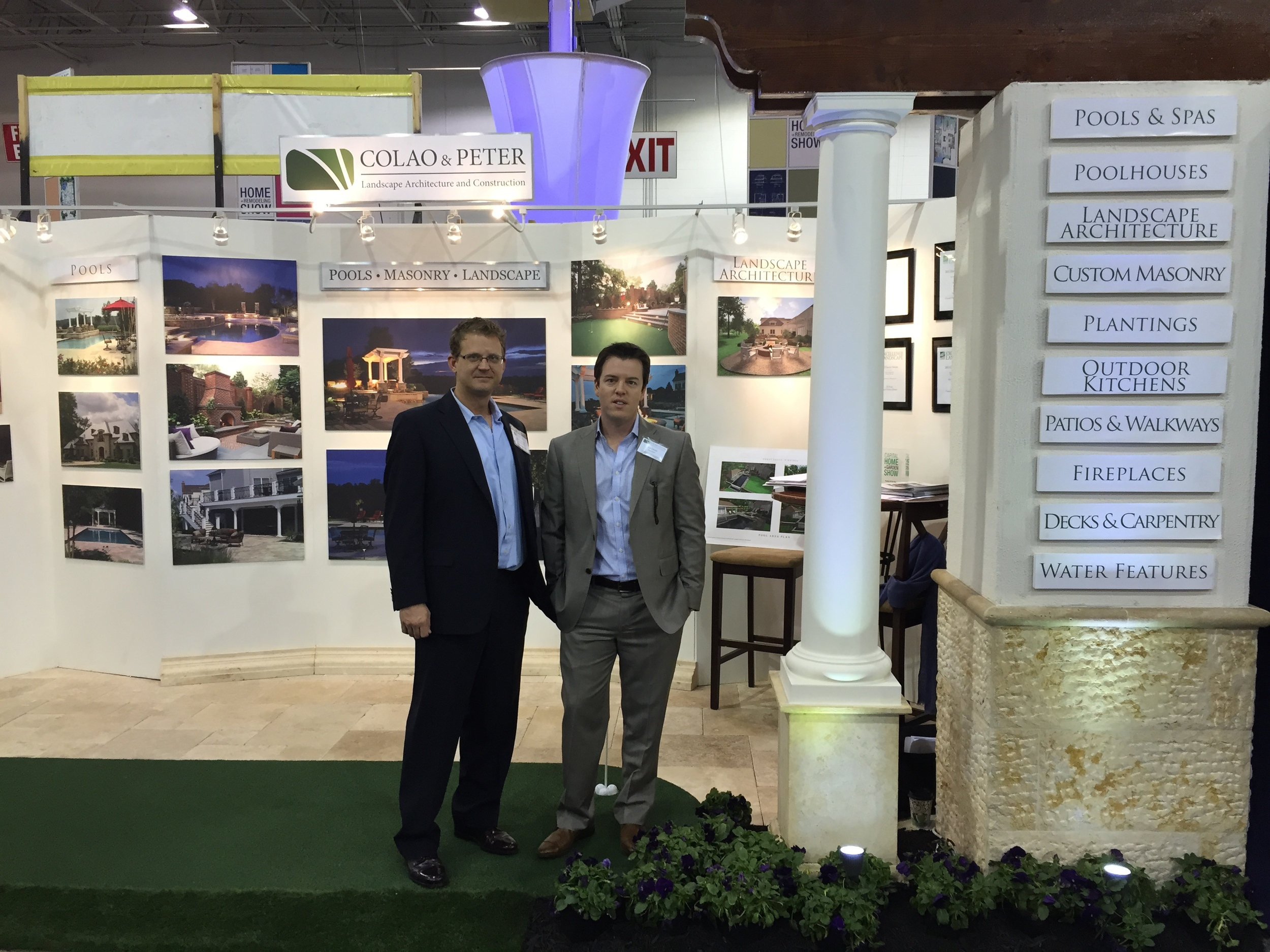 Joe Colao and Judd Youngman attendeding exhibiting for Colao And Peter and the Hone Show in Dulles Virginia.