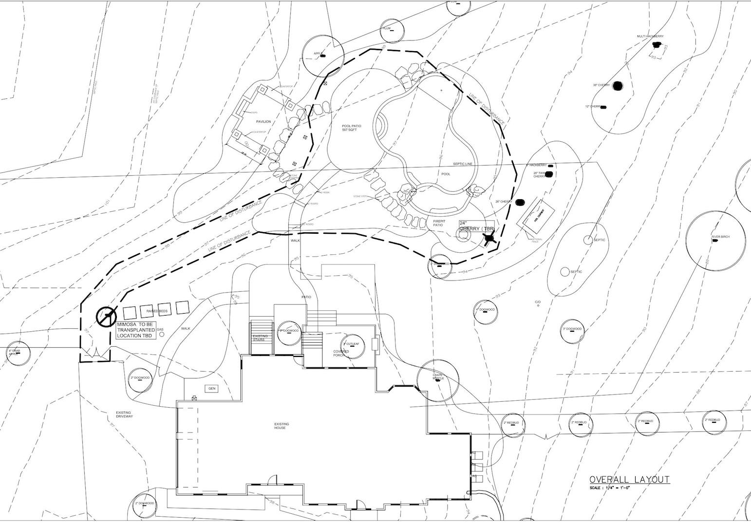 The architectural plan showing the future outdoor environment.