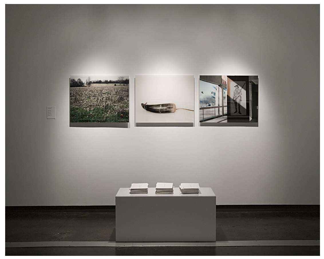 Installation View, Visual Arts Gallery, Digital C-Prints, 500 editioned Monmouth Pamphlets, 2007