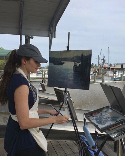 "Painting ""Port Salerno Silhouette"""