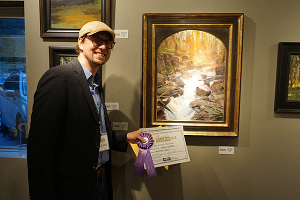 """Jason Sacran received Best of Show for """"Morning Magic,"""" 18 x 24, oil"""