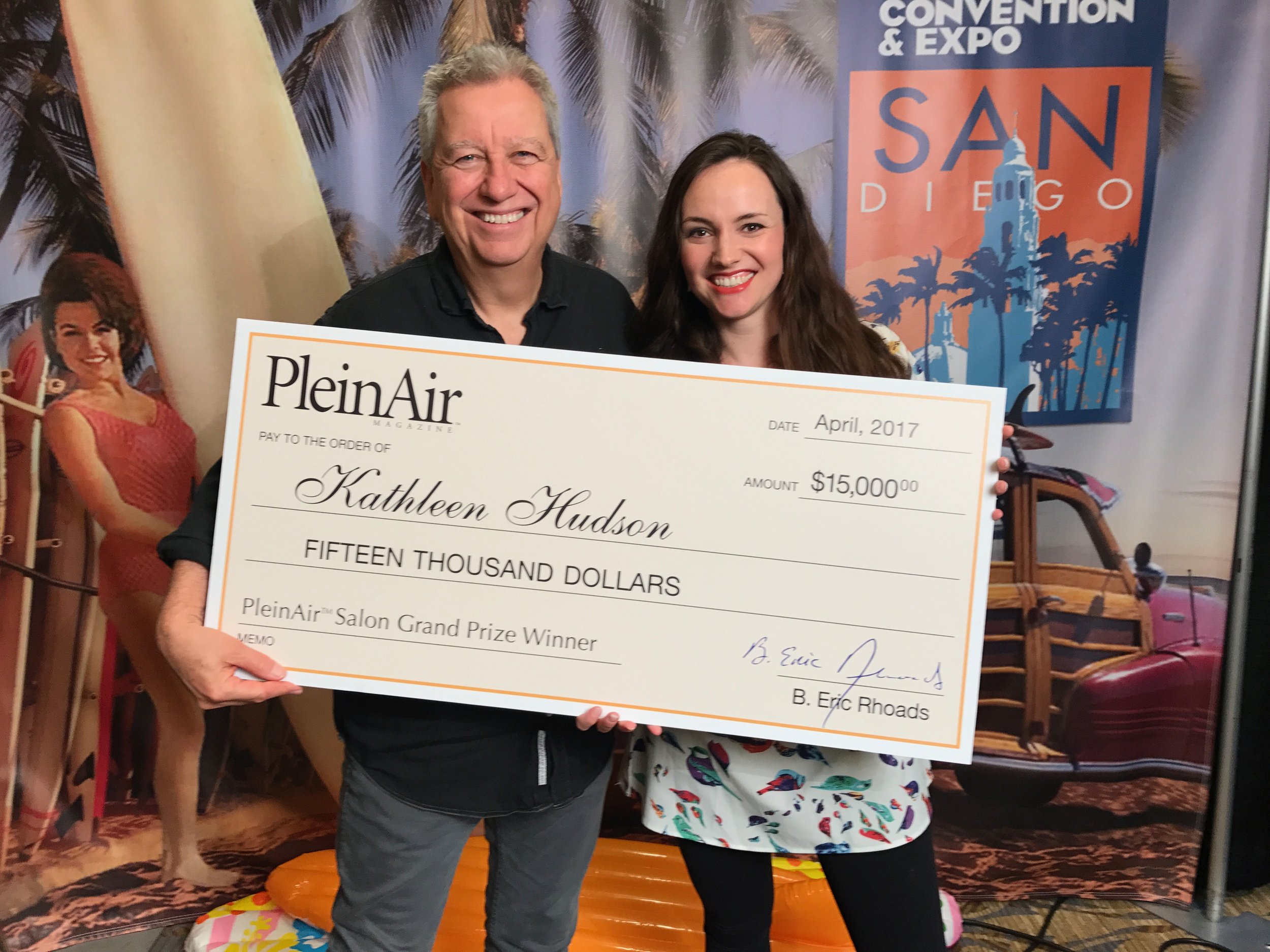 """With Eric Rhoads and the requisite """"big check"""""""