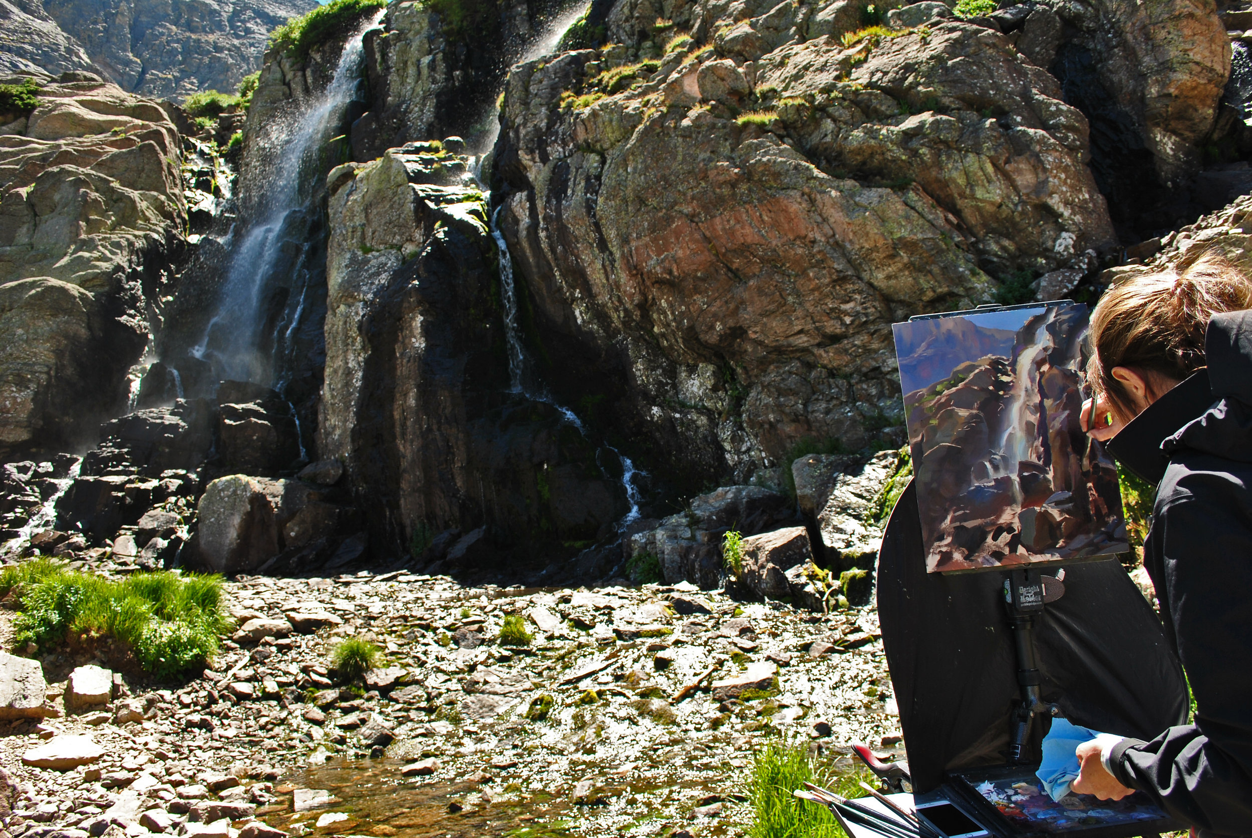 Painting Timberline Falls (Photo: John Crandall)