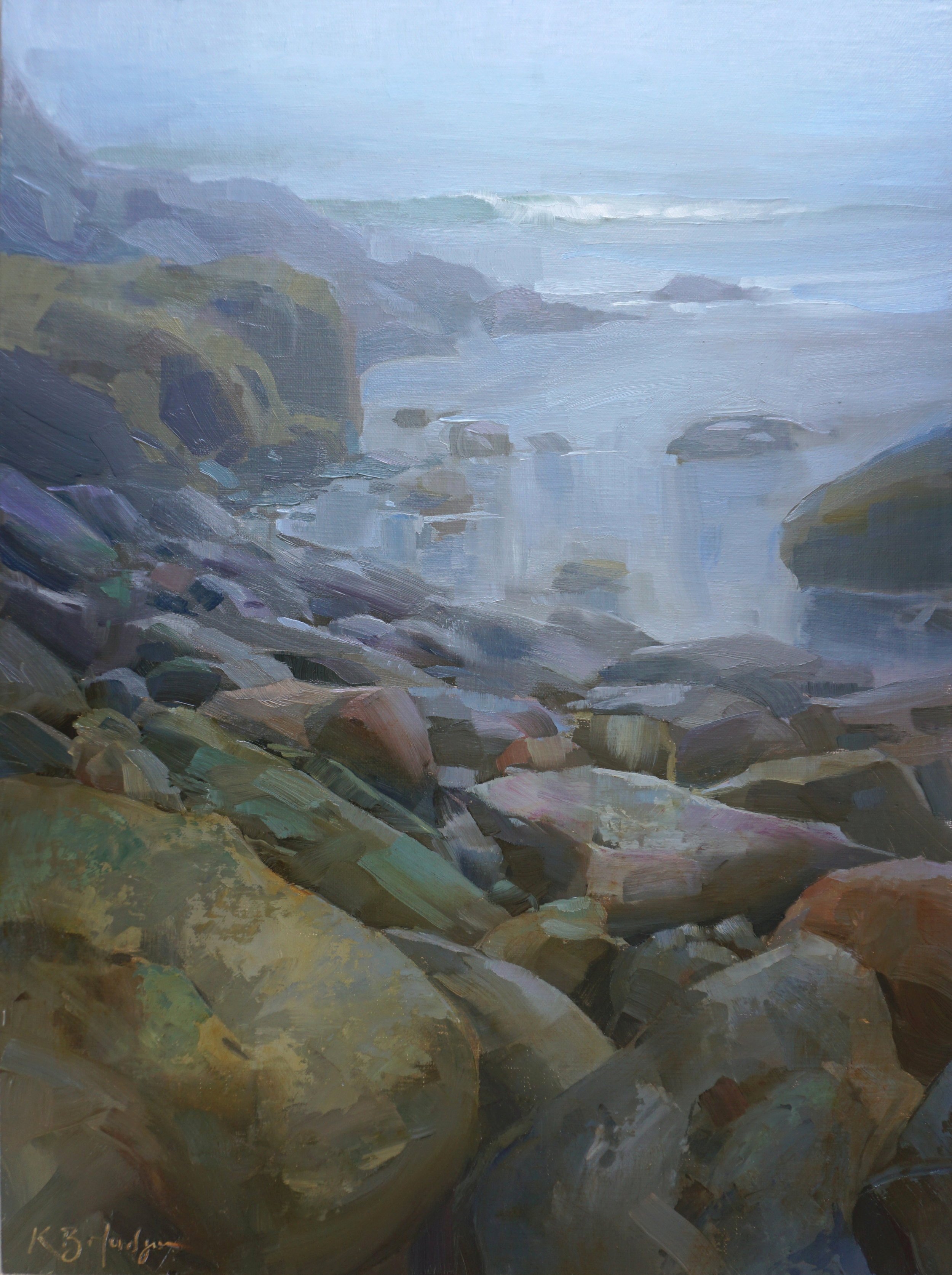 Cove Wreathed in Fog