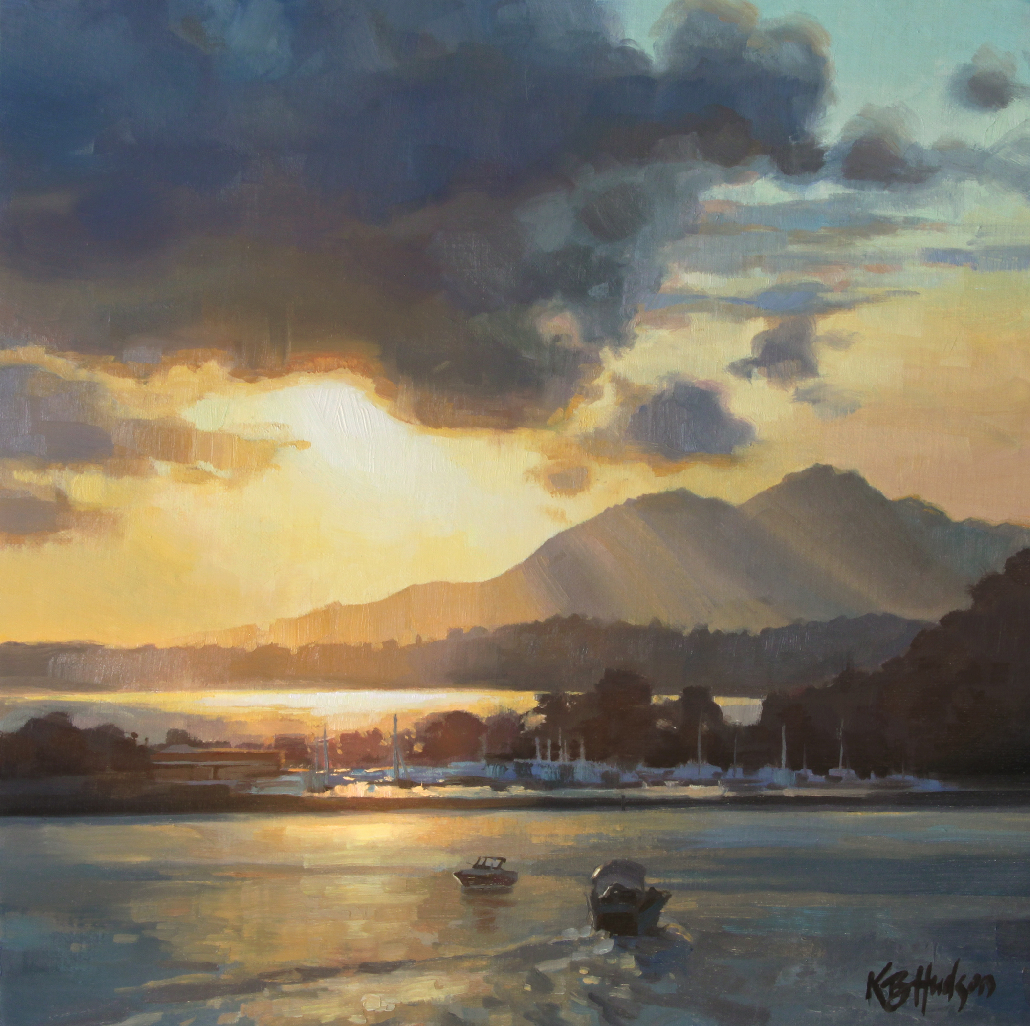 Sunset on the Harbor - Kathleen Hudson (small).jpeg