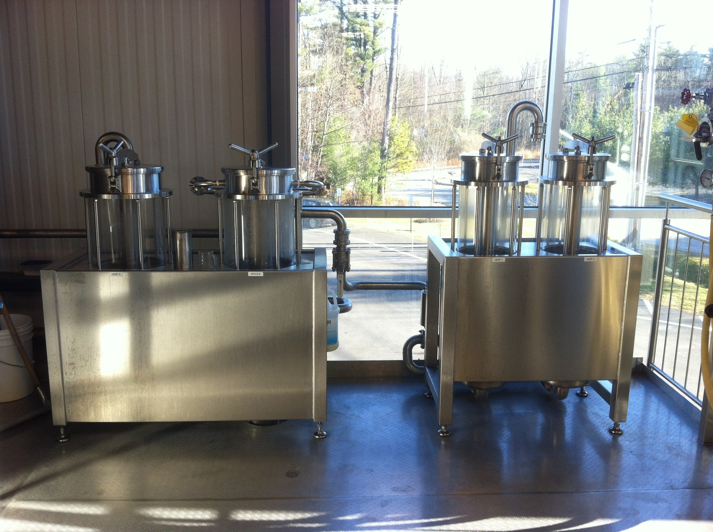 Pilot system, Allagash Brewing Co, Portland