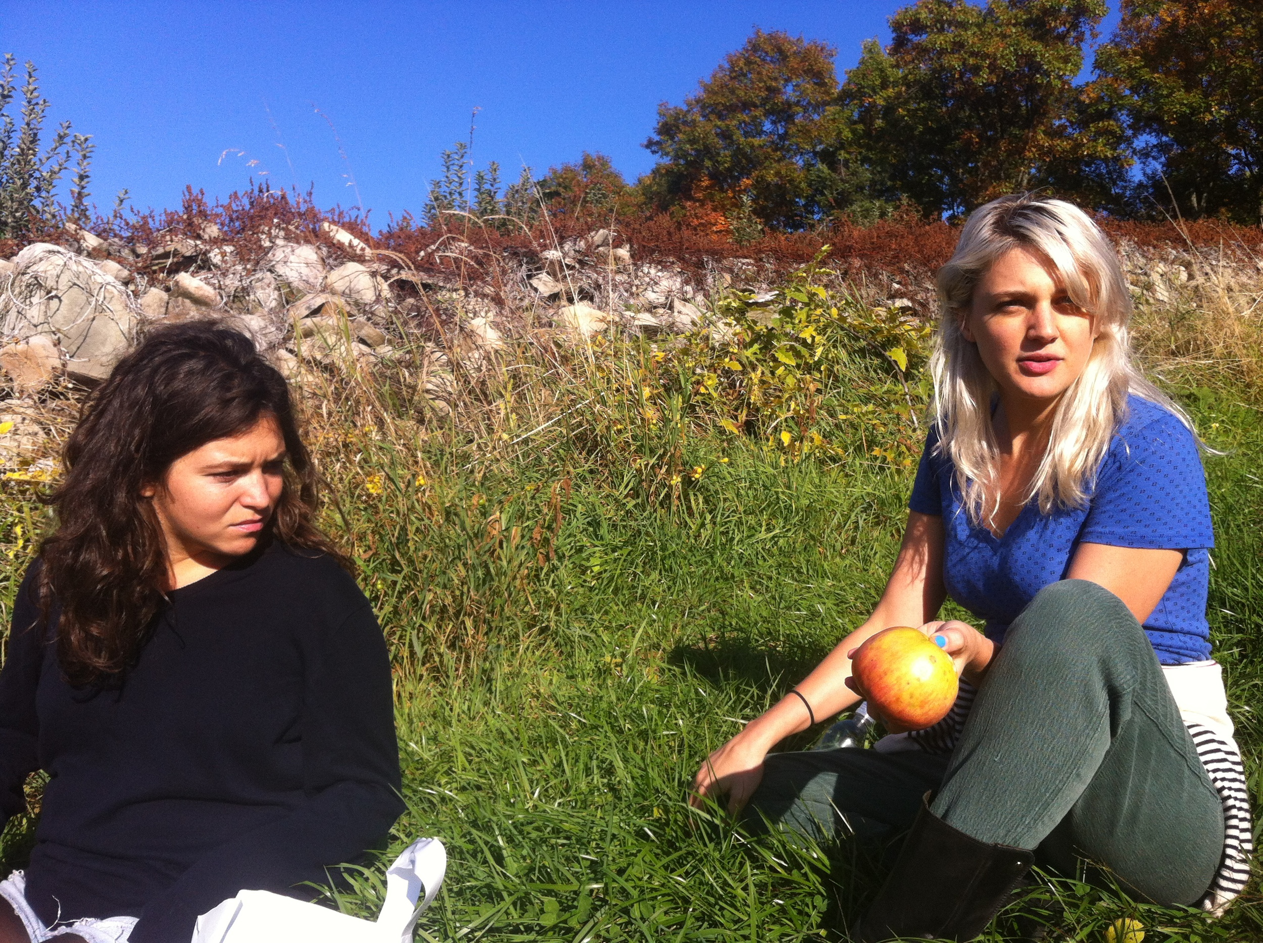 Gluten free girls enjoying the apples.