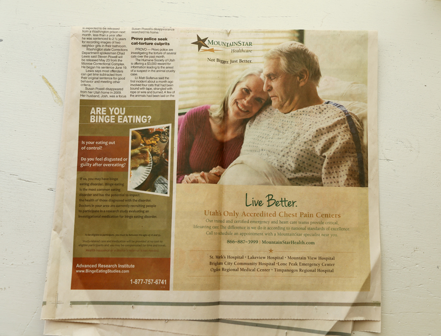 A newspaper ad for MountainStar - a network of hospitals in Utah and Idaho. This campaign continued the whole year on bus wraps, Trax wraps, mailers, and web ads.
