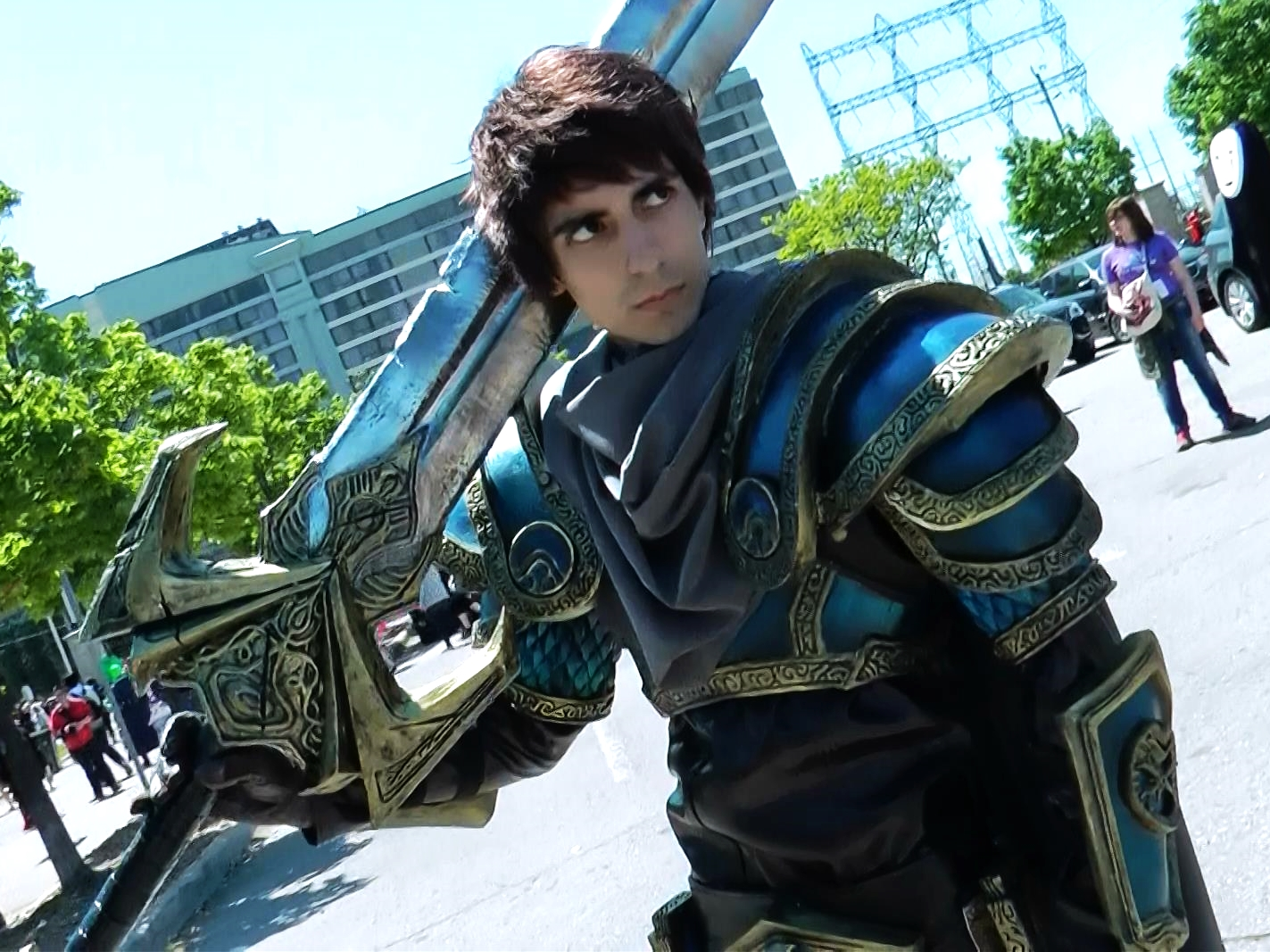 Garen Crownsguard from League of Legends. This cosplayer puts so much heart into his costumes. He's a delight to see every year.