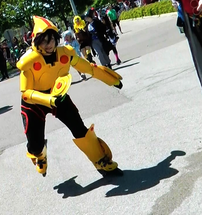GoGo Tomago from Big Hero 6 on her roller blades!