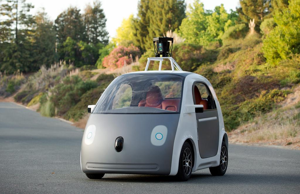 Photo de la voiture autonome créée par Google.