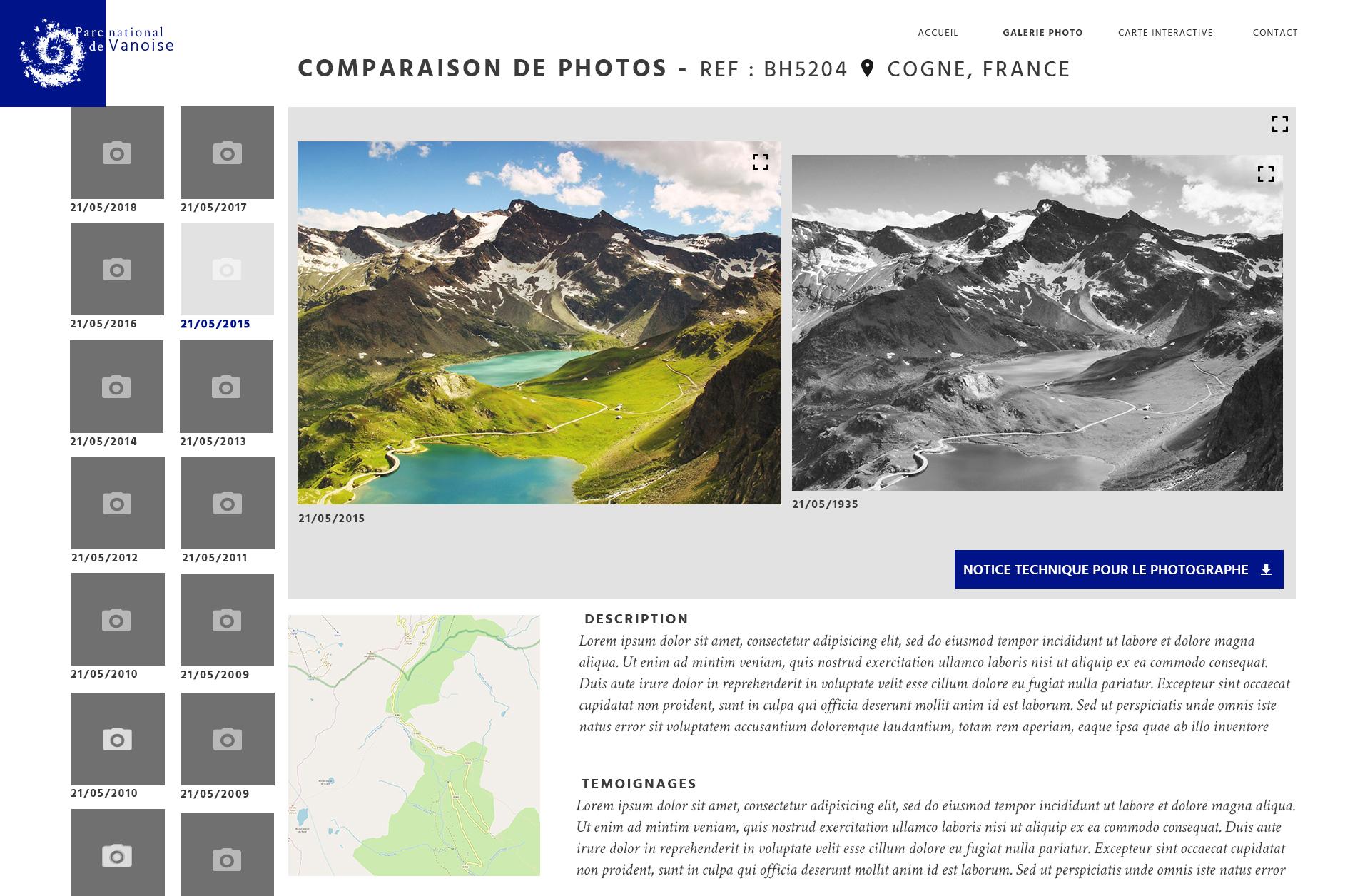 Observatoire photographique des paysages - comparaison de photos