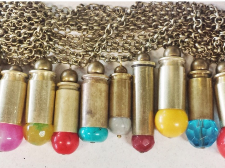 Did YOU KNOW?.....Bou Cou uses real Bullets for their bullet necklaces!!! Beautiful yet strong bou cou's bullet necklaces are a bit of a staple and start into a bou cou addicts dream!