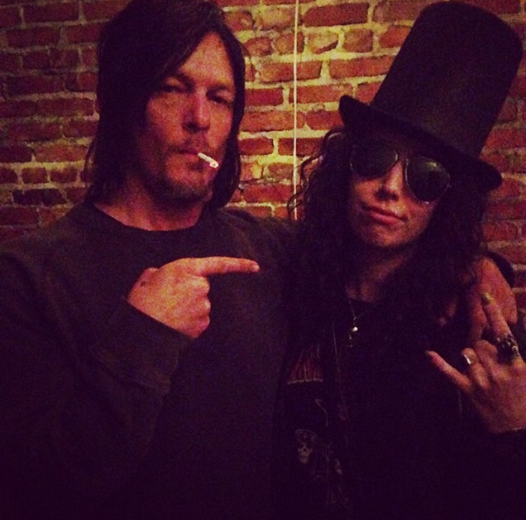 Normal Reedus loved Alaina's Slash costume- so much that HE insisted on taking a picture with her!