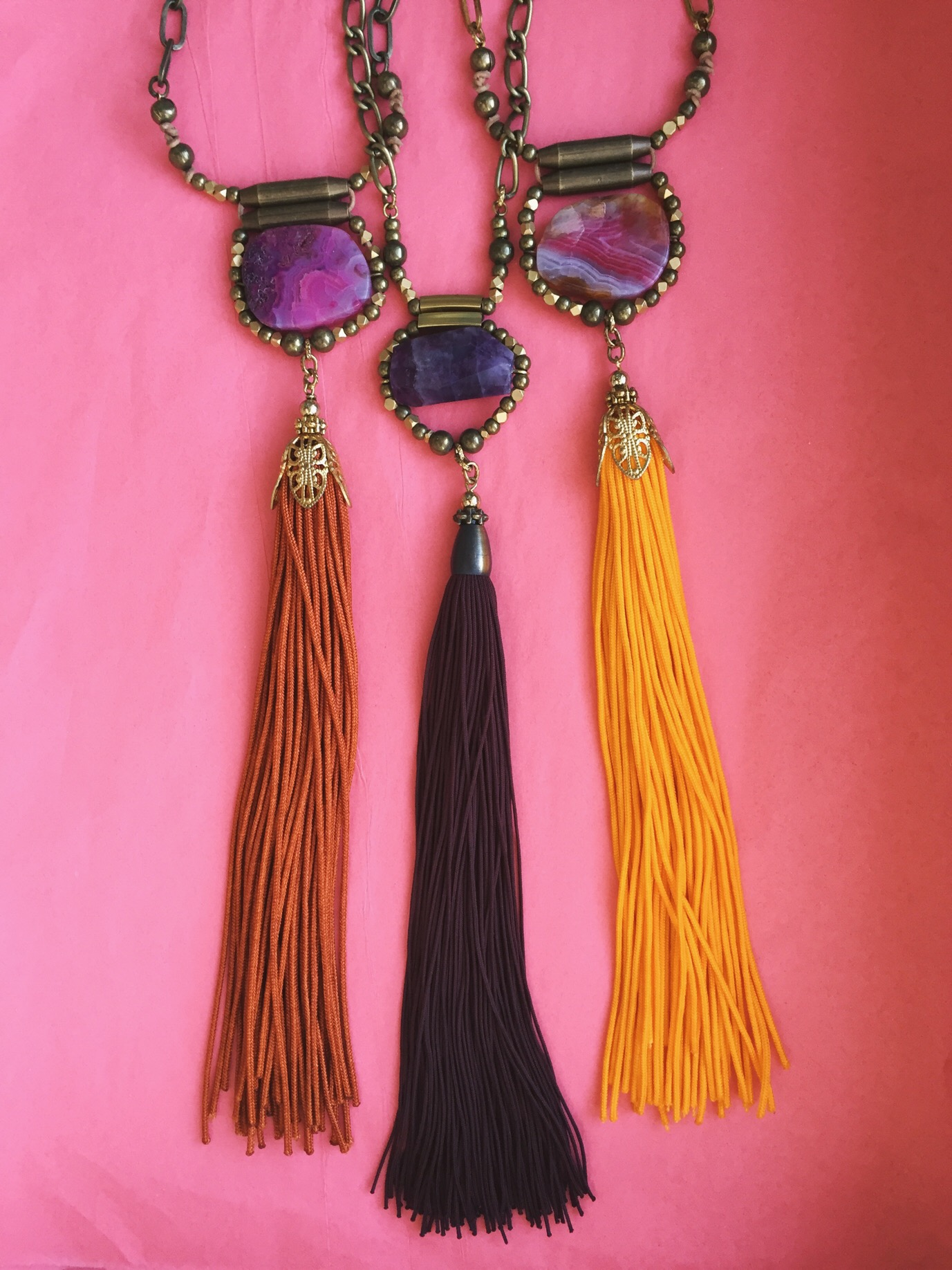 These stones really pair well with our tassels, don't you think?