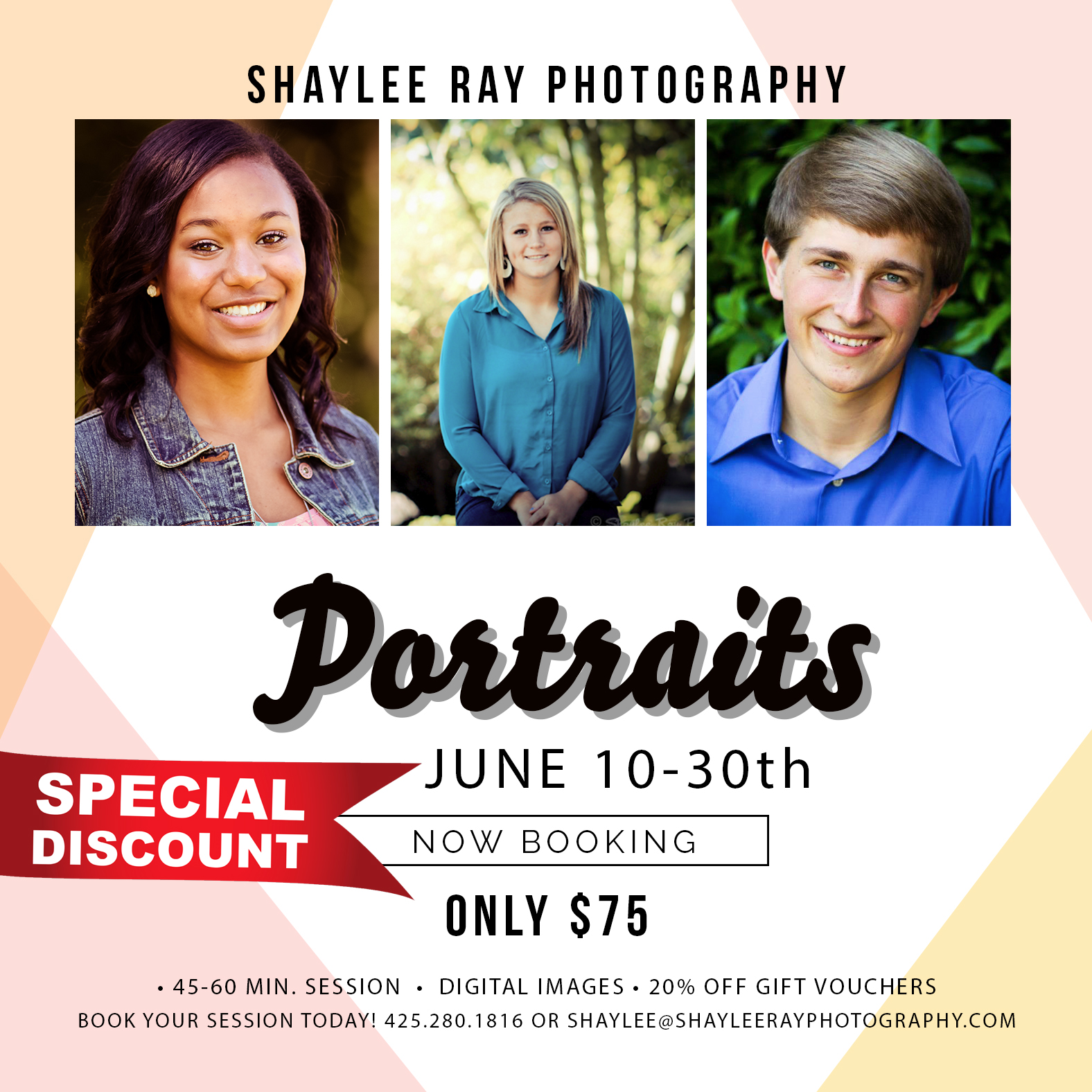 Reserve your portrait session today! Email shaylee@shayleerayphotography.com