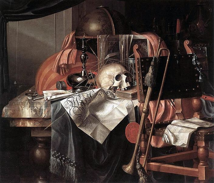 Franciscus Guysbrechts - Vanitas, fromhttp://commons.wikimedia.org/wiki/File:Franciscus_Gysbrechts_-_Vanitas.JPG