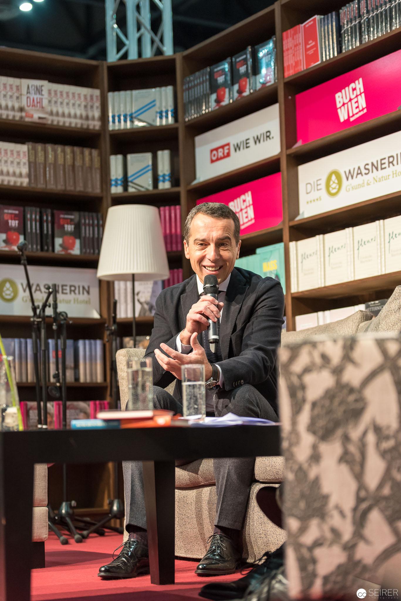 Christian Kern auf der Buch Wien 2016