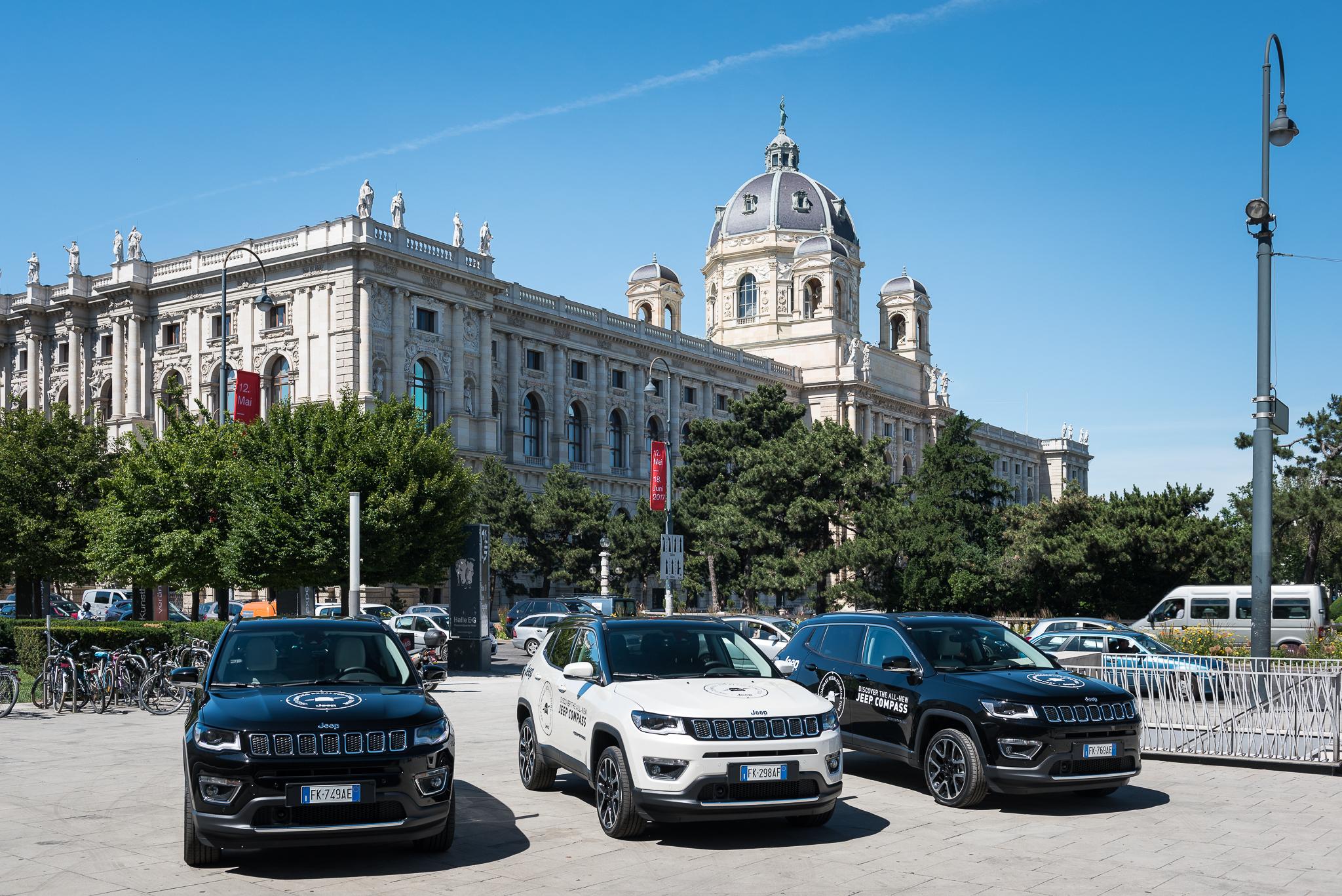 Präsentation des neuen Jeep Compass beim Museumsquartier Wien