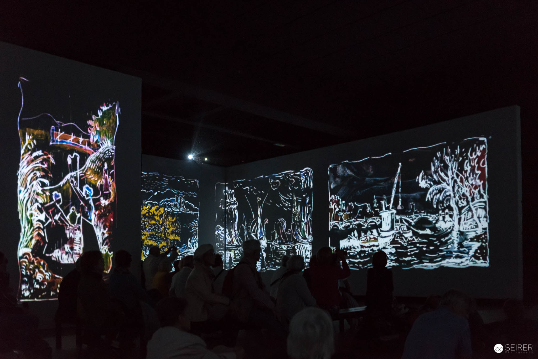 Animierte Video-Projektion: Von Monet bis Kandinsky in Berlin — Events - Portraits