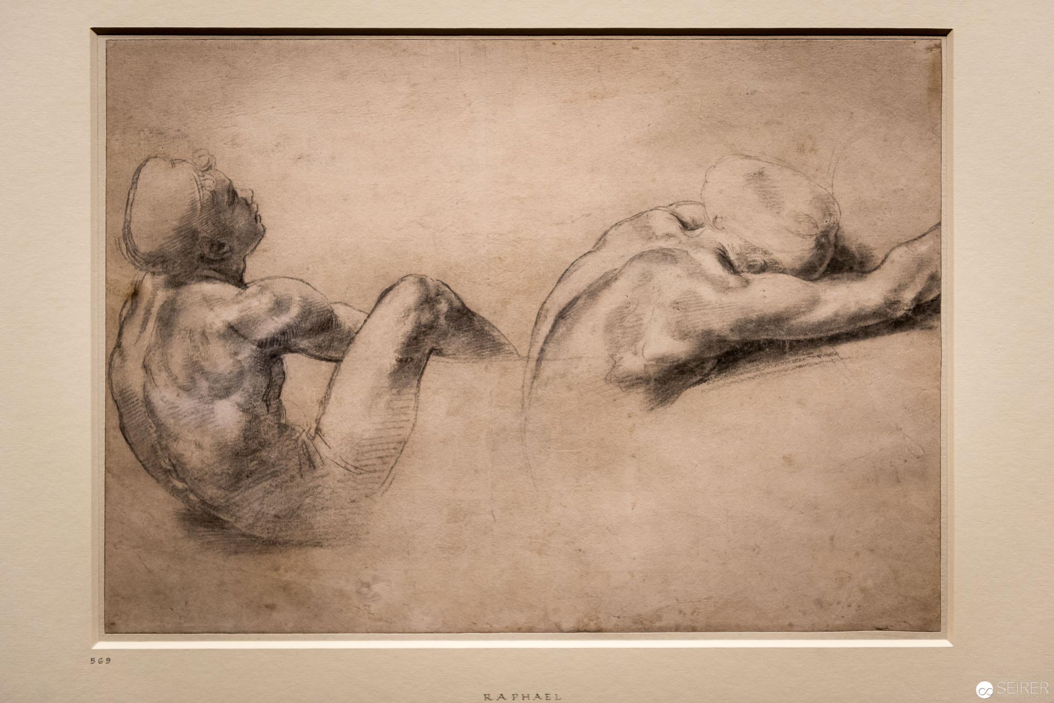 Raffael: Aktstudie zweier sitzenden Jünglinge, Ashmolean Museum Oxford