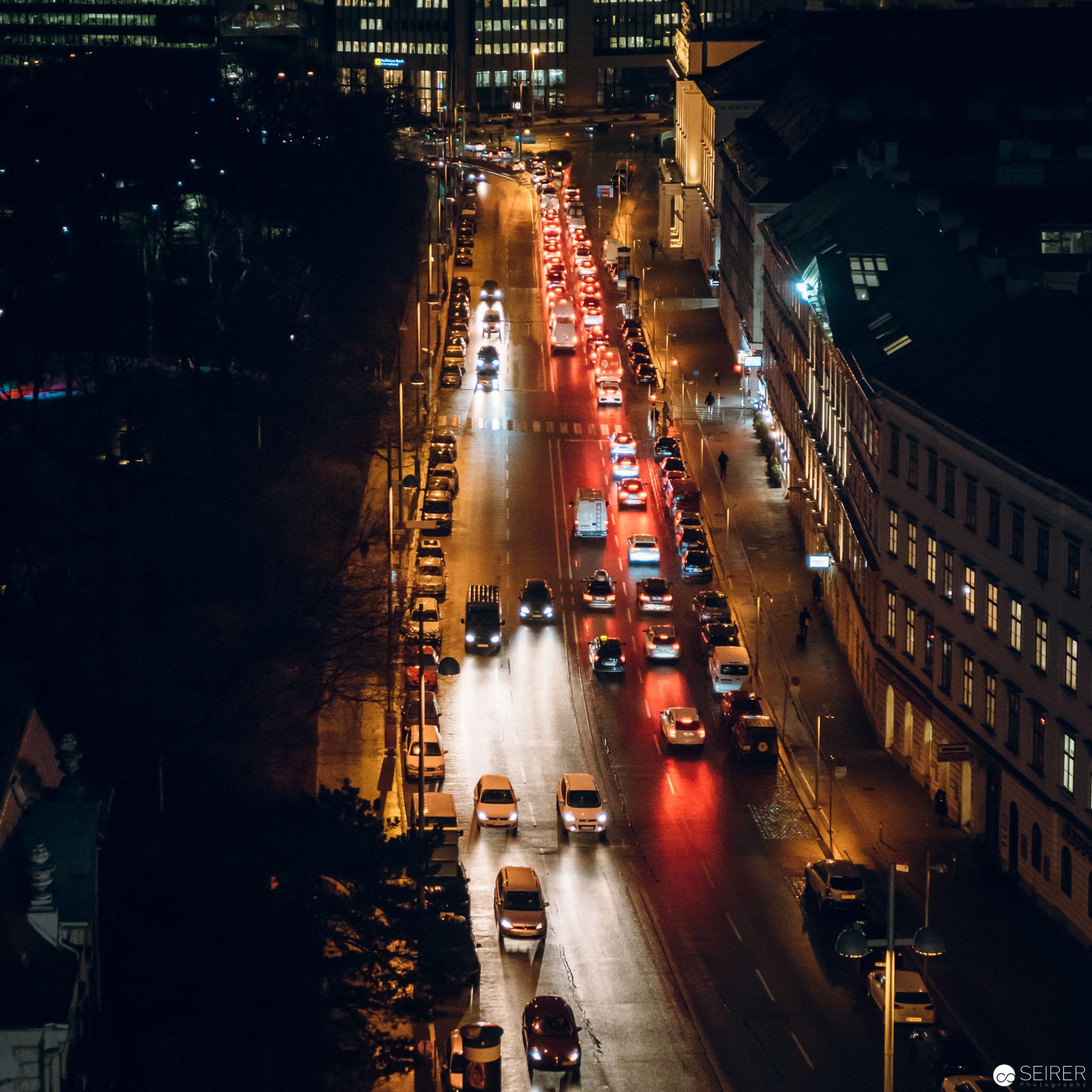 Blick vom InterContinental Wien Dach Richtung Wien Mitte