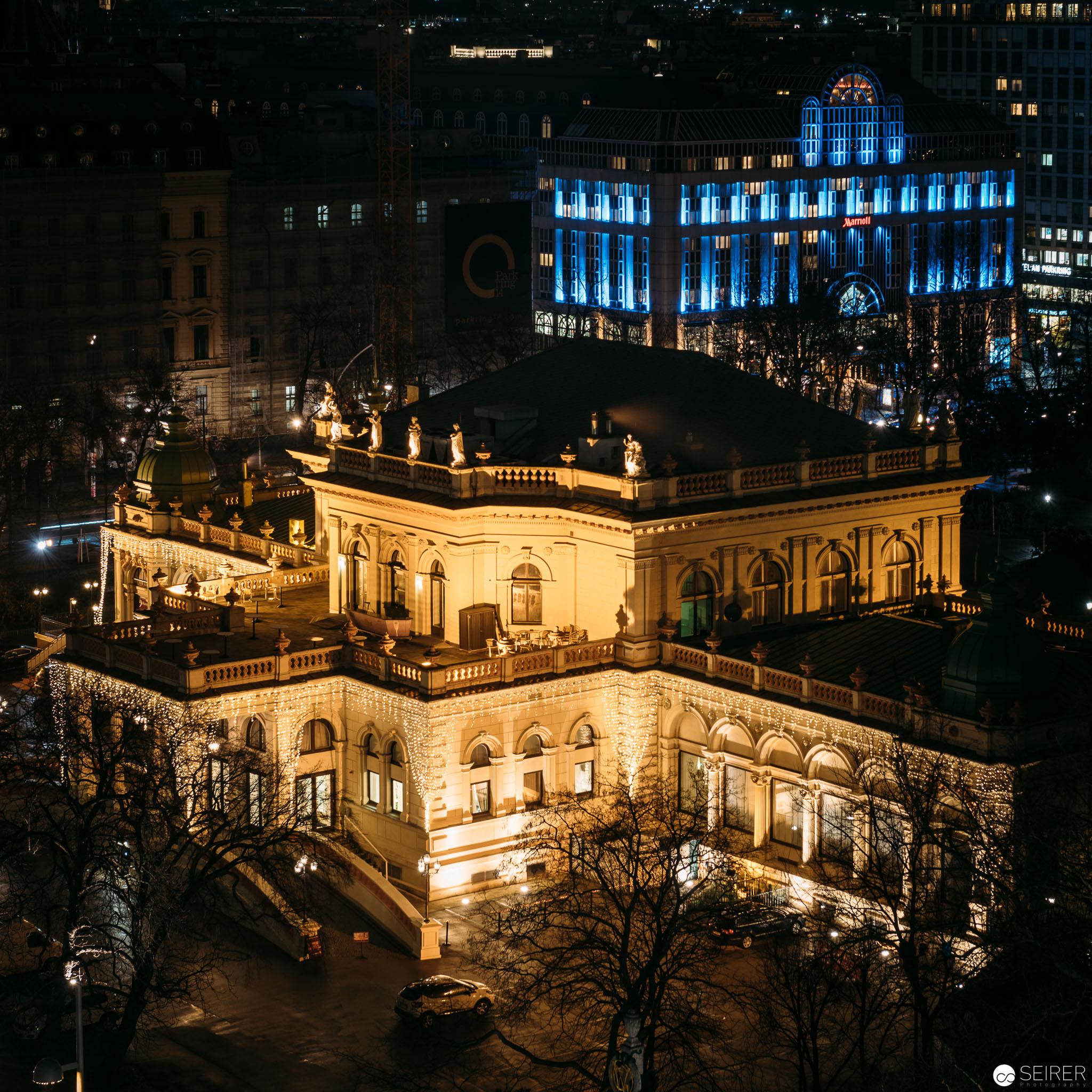Der Kursalon im Stadtpark vom InterContinental Wien Dach aus