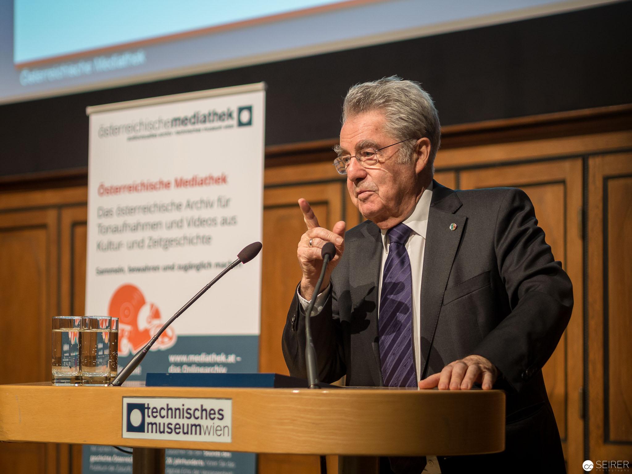 Dr. Heinz Fischer, Bundespräsident a. D. im Technischen Museum
