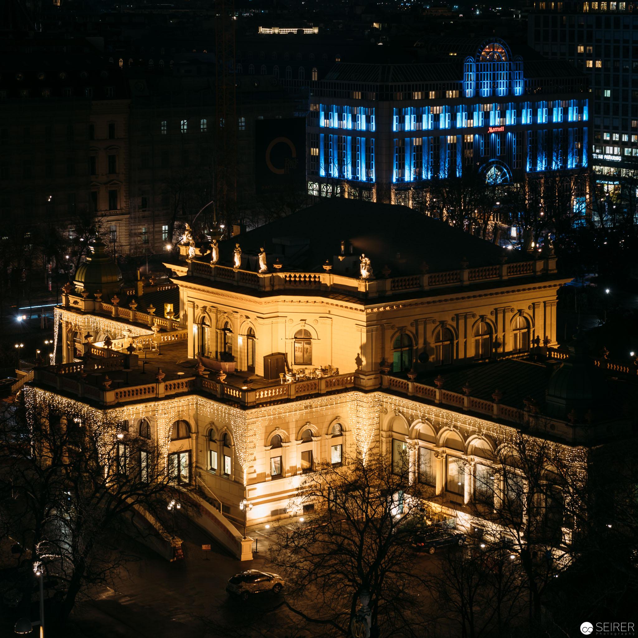 Kurhaus Wien vom Dach des Hotel Intercontinental