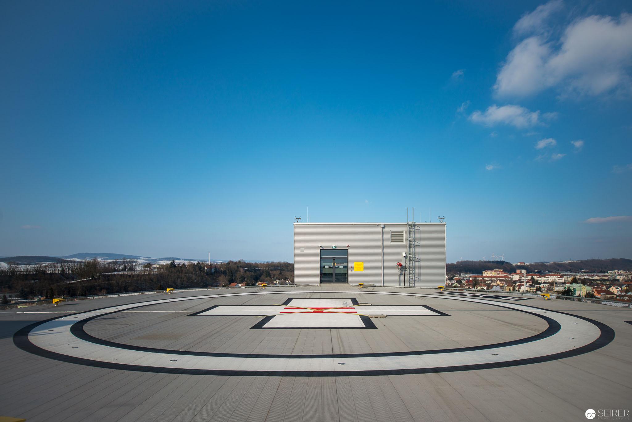 Neuer Heliport,Universitätsklinik St. Pölten