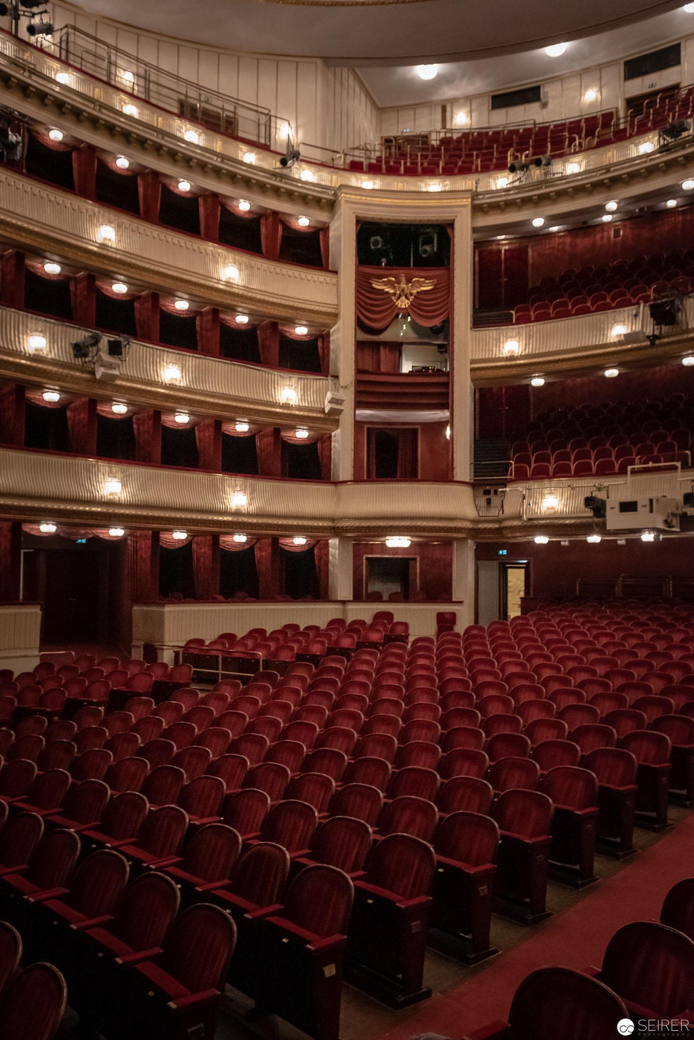 Der Zuschauerraum im Burgtheater