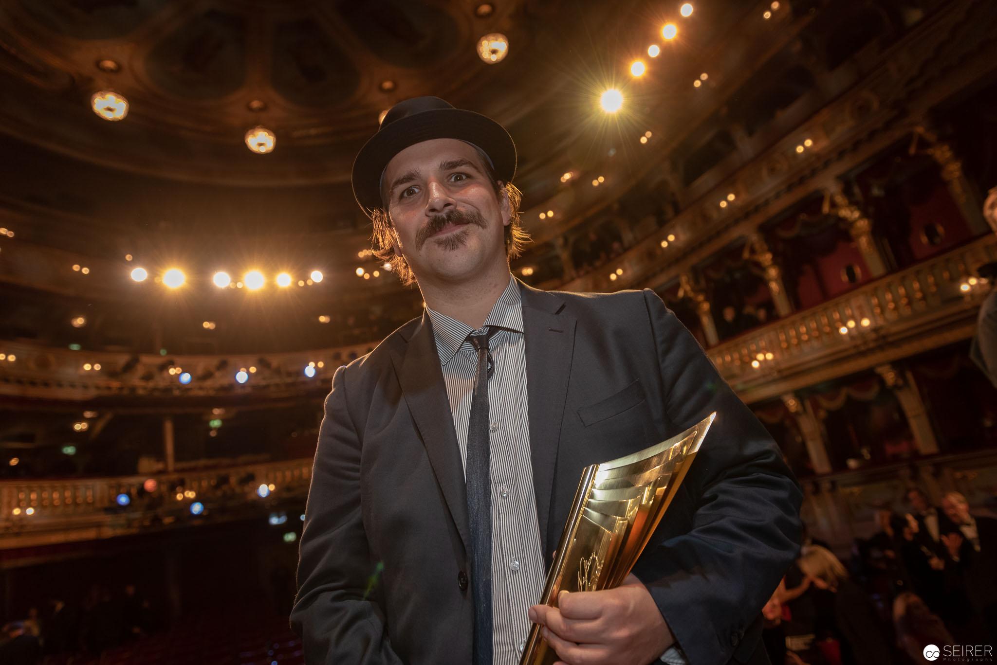 Ferdinand Schmalz bei der Nestroy Verleihung 2018