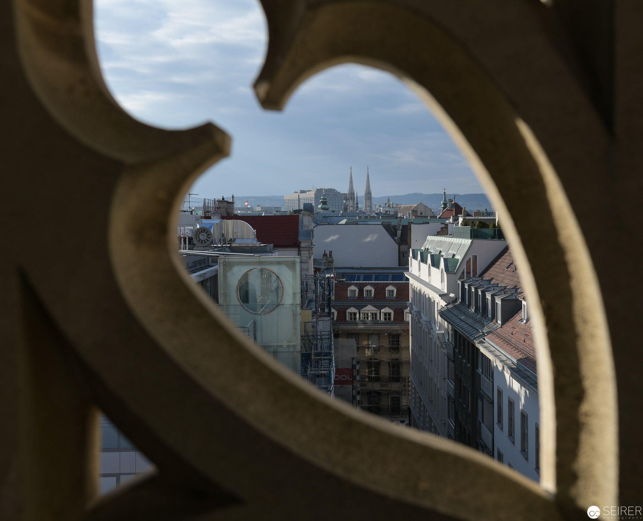Ausblick vom Stephansdom Richtung Osten
