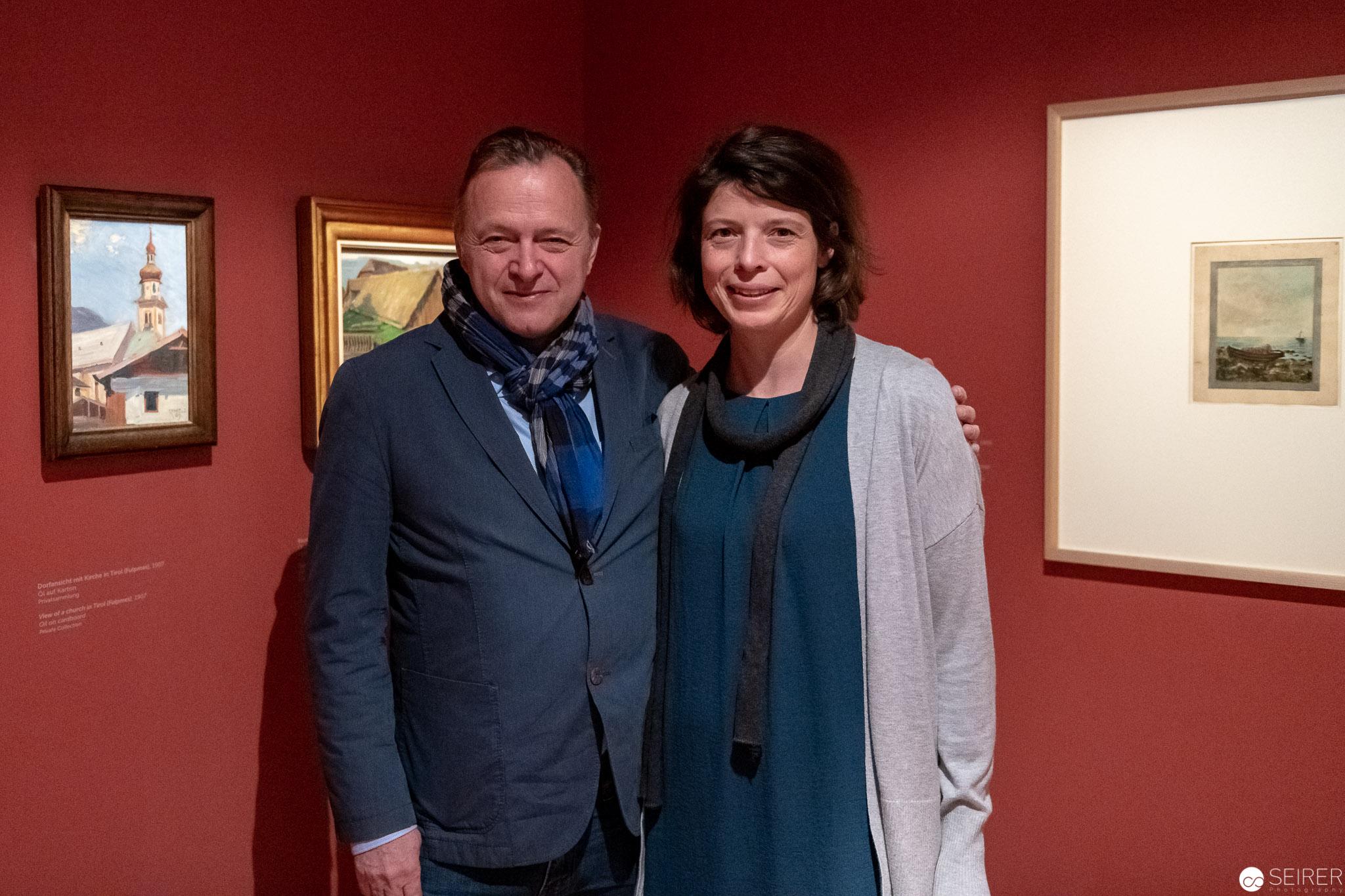 Christian Bauer, Kurator und Heidrun Wenzel, Co-Kuratorin vom Egon Schiele Museum