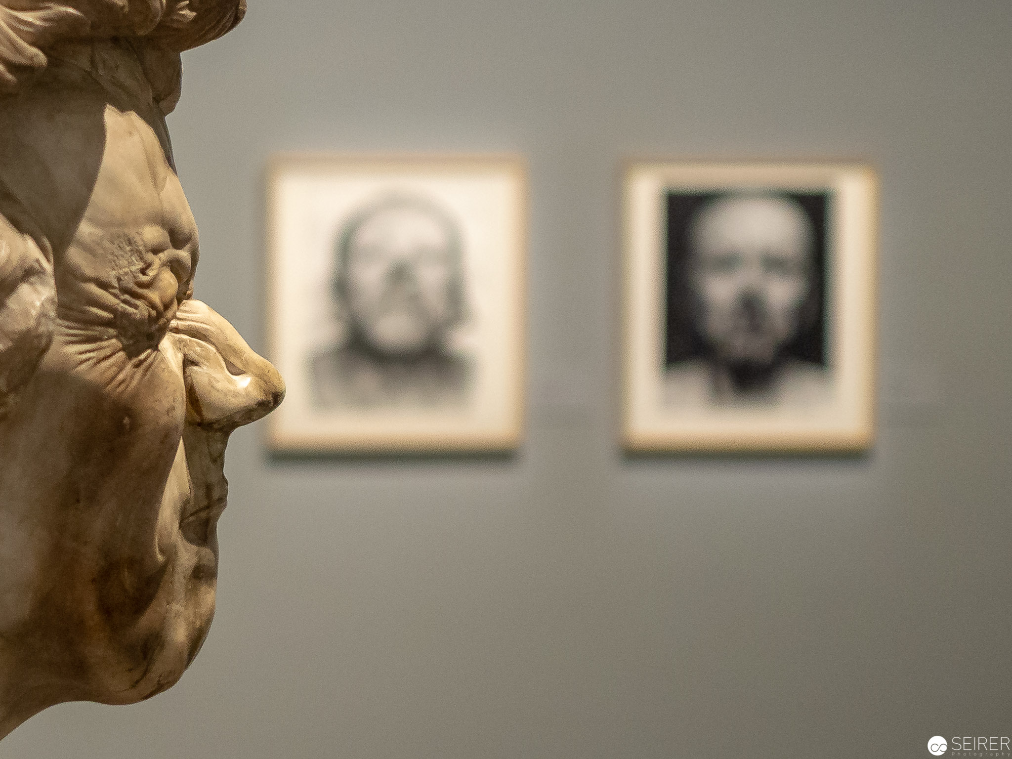 """""""Ein abgezehrter Alter mit Augenschmerzen"""" von Franz Xaver Messerschmidt, Belvedere Wien"""