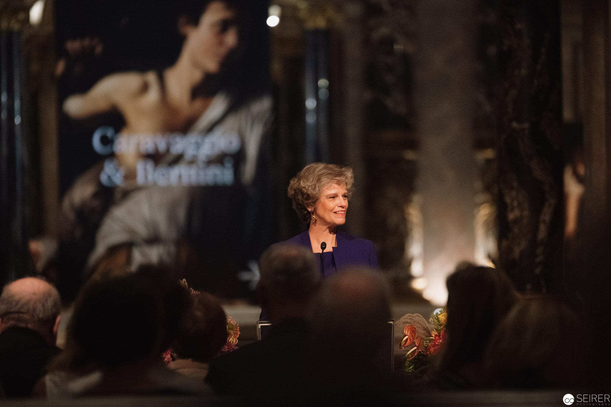 Sabine Haag, Generaldirektorin des KHM, bei der Eröffnungsrede zu Caravaggio & Bernini
