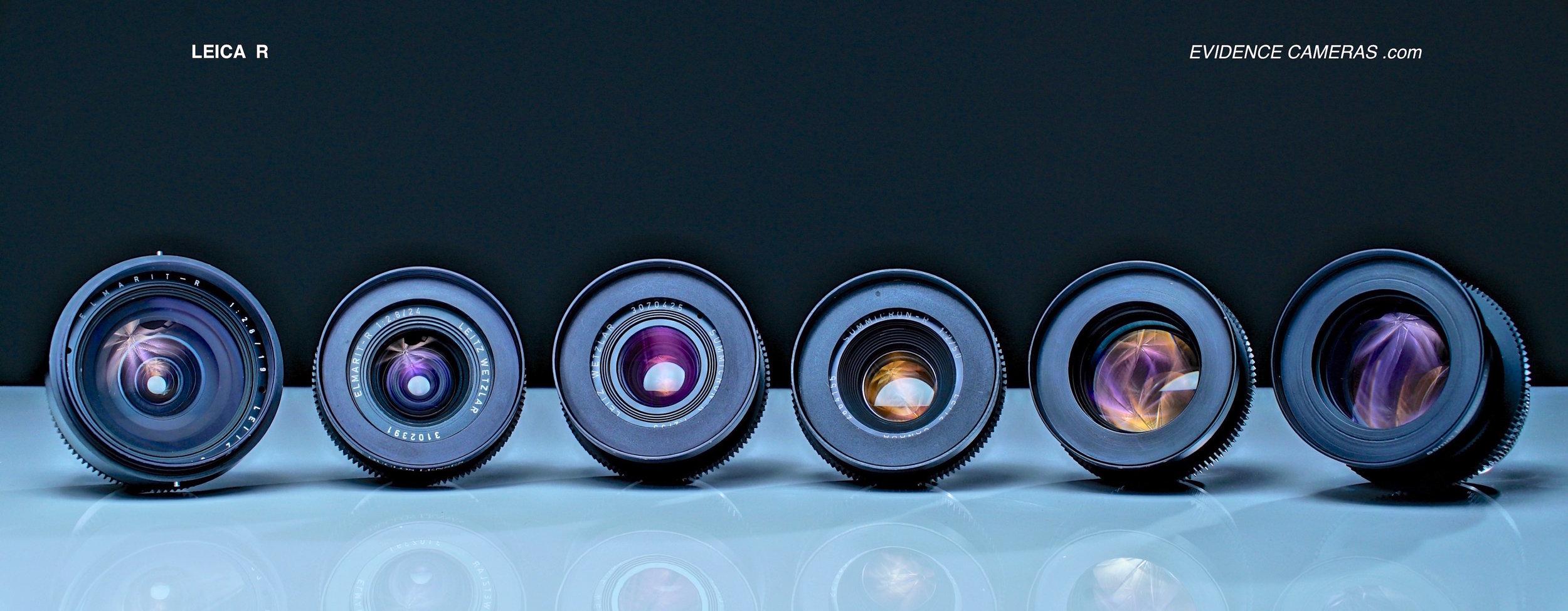 LEICA R Prime Set - Duclos Cinemod (SET OF 6 - Full Frame - EF Mount)   19mm 2.8, 24mm 2.8, 35mm 2.0, 50mm 2.0, 90mm 2.0, 135mm 2.8