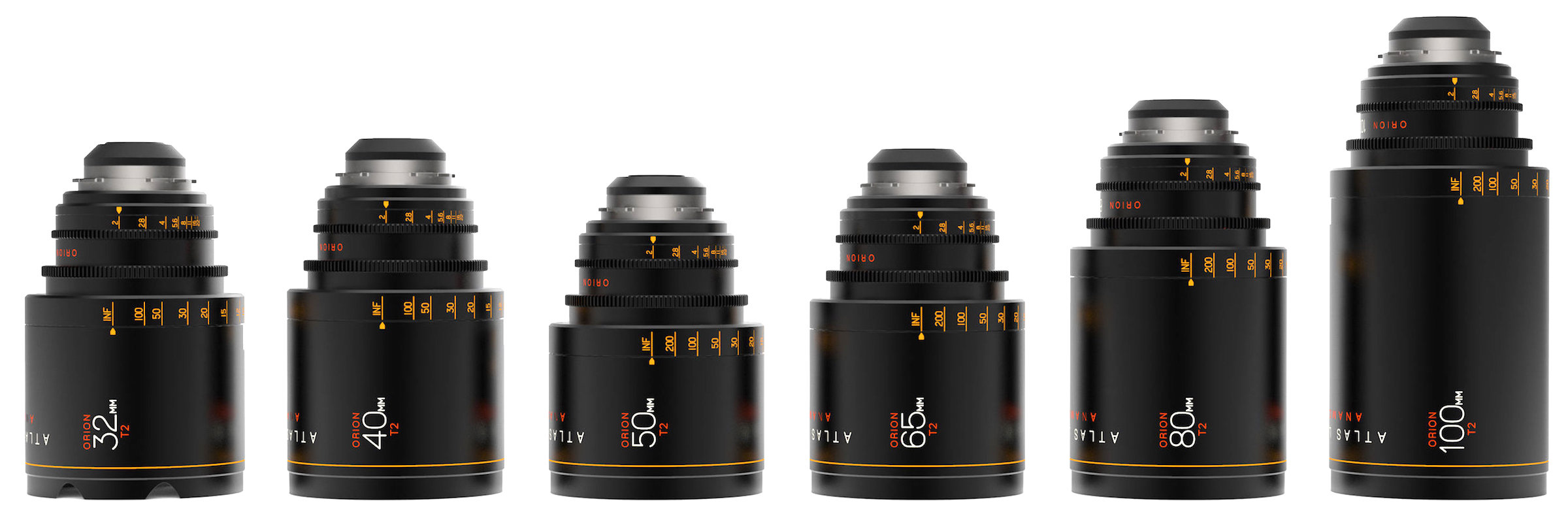 ATLAS 2X ANAMORPHIC T2.0 SET   40mm, 65mm, 100mm initial set - More Focal lengths coming soon!