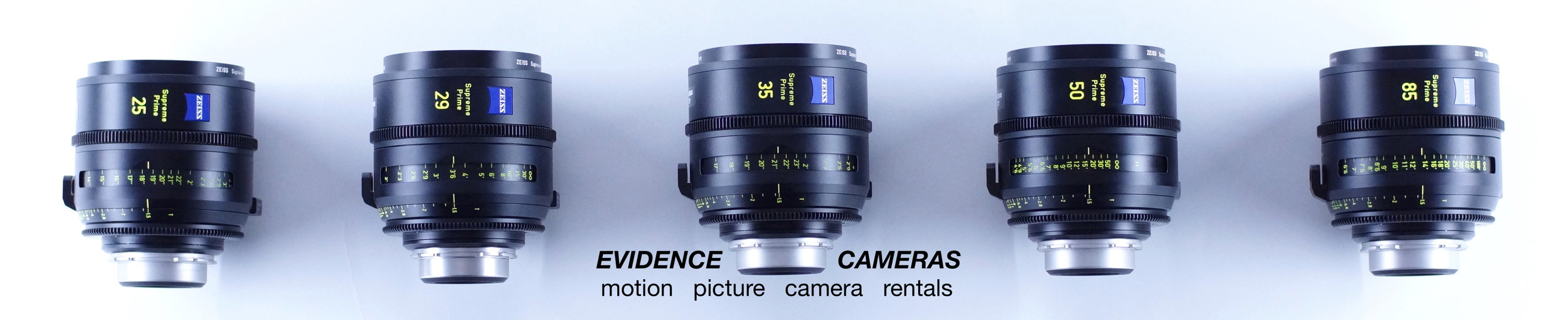 ZEISS SUPREME T1.5 Full-Frame PL (SET OF 5 currently available)   25mm T1.5, 35mm T1.4, 29MM T1.5, 50mm T1.5, 85mm T1.5