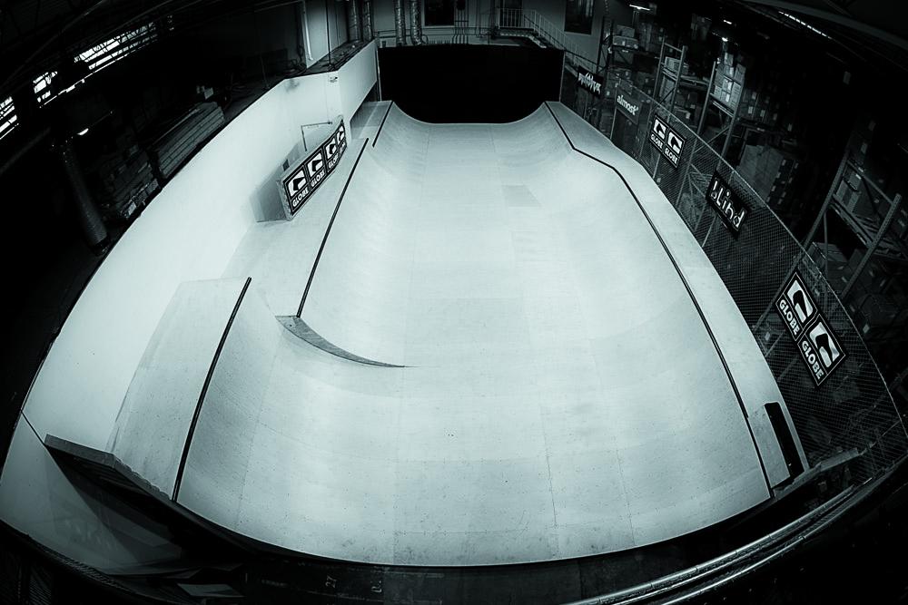 The Globe HQ skating ramp. Image courtesy of Globe