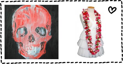 Ella loves the art of Jon Thom at  Moodie Tuesday  | Talia loves Jolene's beautiful creations at Estelle Flowers