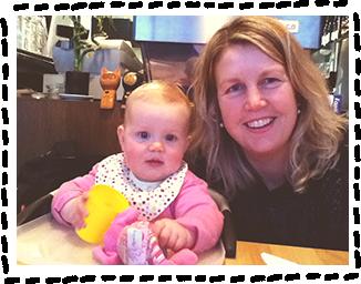 Kereen and her daughter LucaBella