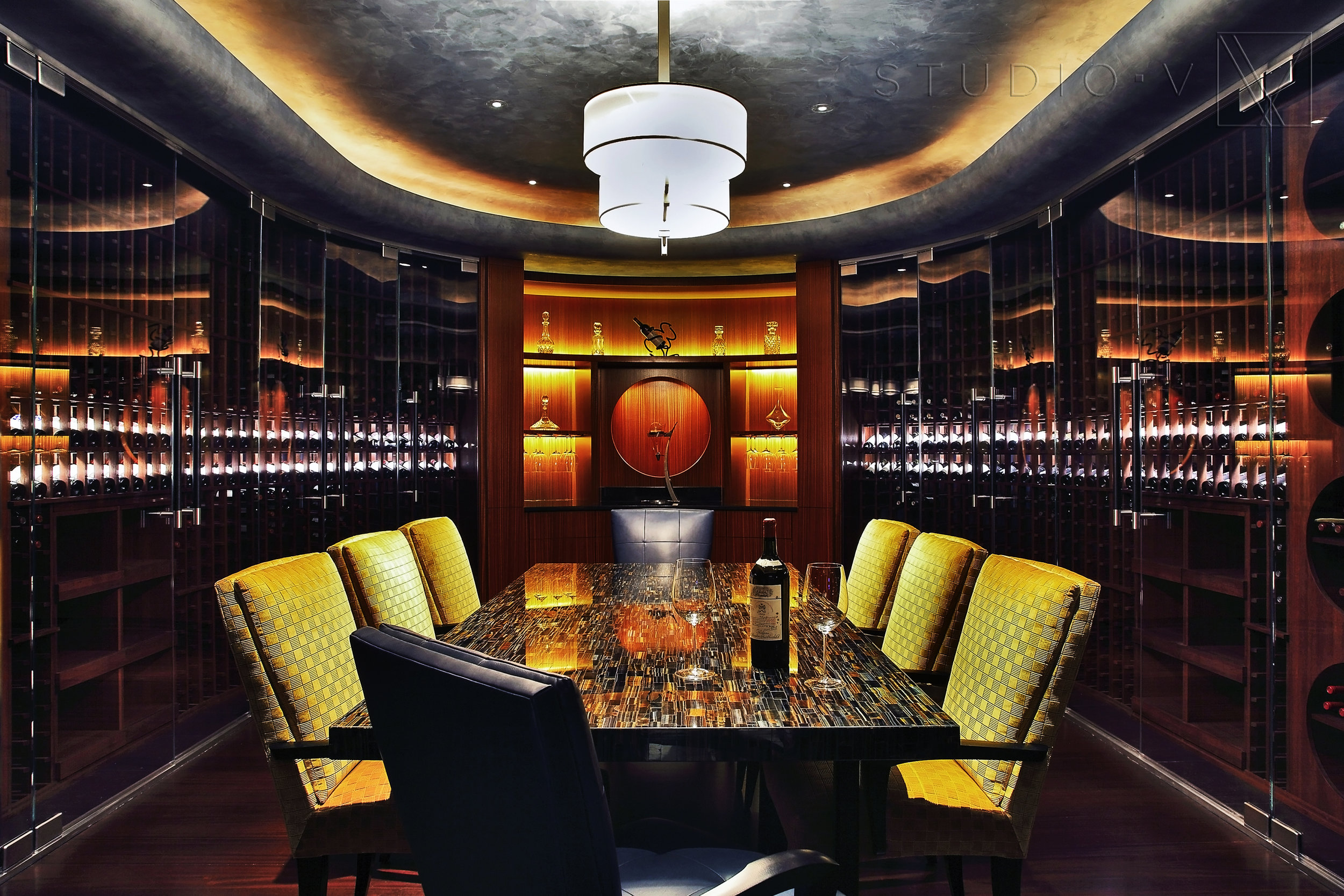 13_Wine Cellar Wine Table Studio V Interiors Scottsdale AZ Greenwich CT.jpg