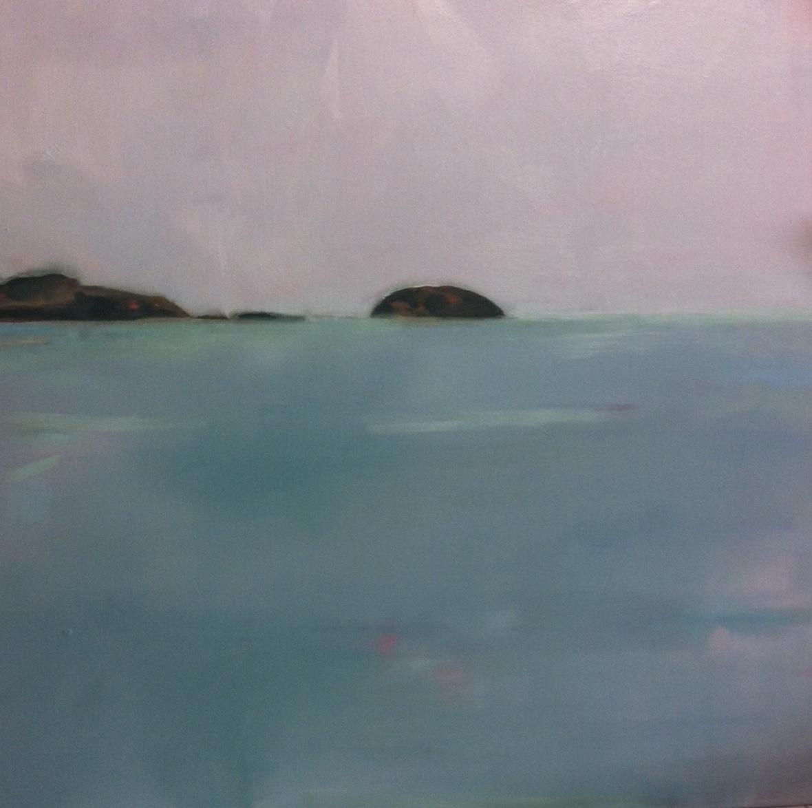 New work ISLAND  2014 oil painting 100 x100 cm  AUD $3200